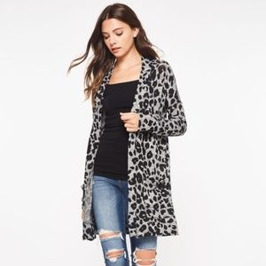 BEESON RIVER CARDIGAN WRAP JACKET LEOPARD SM-XL
